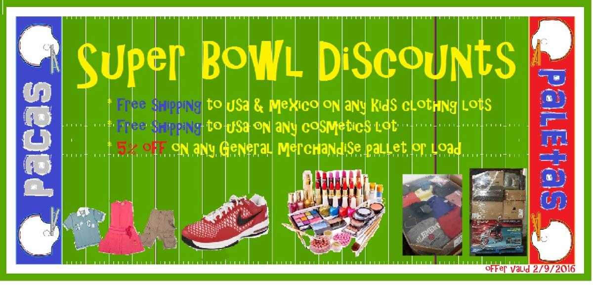 Super Bowl Discounts banner